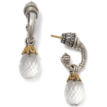 Konstantino Women's Sterling Silver & 18K Gold Crystal Drop Earrings