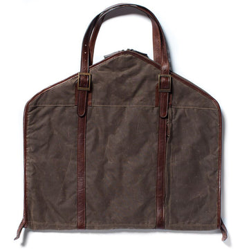 Moore and Giles Stanley Suit Valet Bag in Waxwear Rangertan