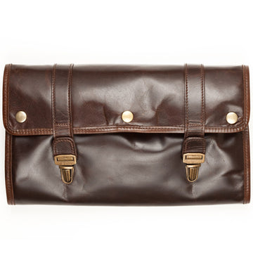 Moore and Giles Austin Hanging Luxury Toiletries Kit, Brown