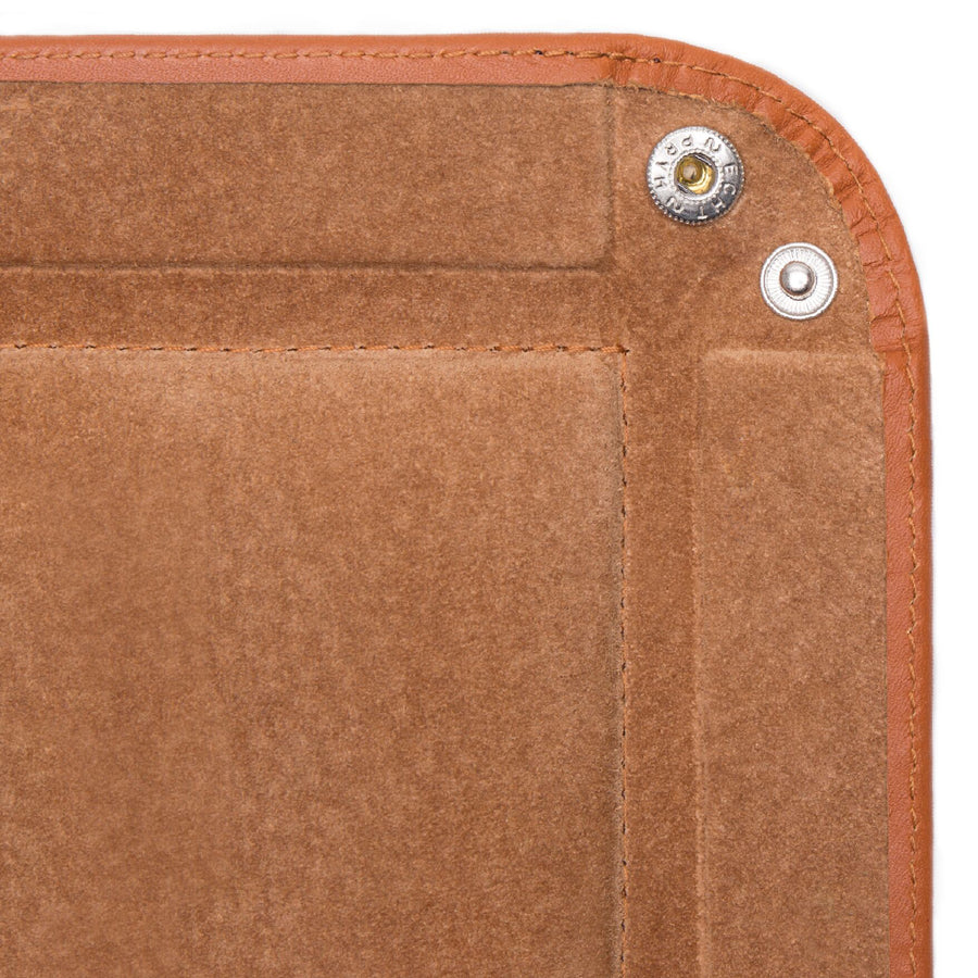 Ettinger Lifestyle Collection Square Leather Tray, Tan