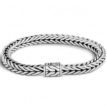 John Hardy Classic Chain 6MM Sterling Silver Woven Bracelet, 8 inches