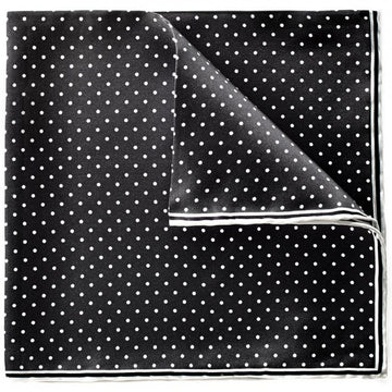 Bruno Piattelli Men's Dotted Pocket Square, Black and White