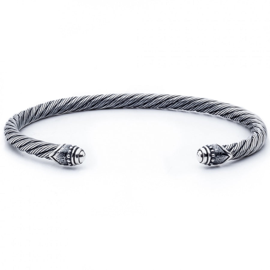 Scott Kay Men's 4mm Thick Twisted Cuff Bracelet, Sterling Silver