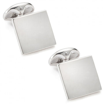 Deakin and Francis Plain Square Designer Cufflinks, Sterling Silver
