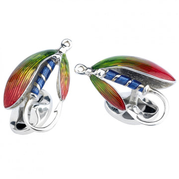 Deakin and Francis Sterling Silver Fly Fishing Cufflinks
