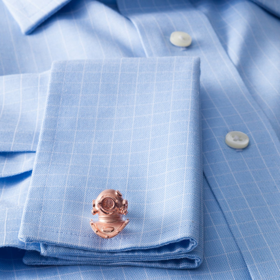 Deakin and Francis Diving Helmet in Rose Gold Cufflinks