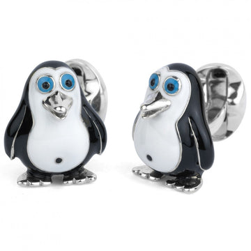 Deakin and Francis Sterling Silver Fat Penguin Cufflinks