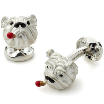 Deakin and Francis Sterling Silver British Bulldog Cufflinks - upscaleman.myshopify.com