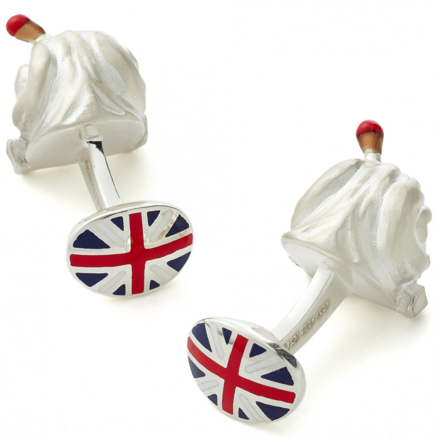 Deakin and Francis Sterling Silver British Bulldog Cufflinks