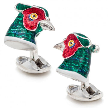 Deakin and Francis Sterling Silver Pheasant Cufflinks