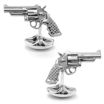 Deakin and Francis Revolver Sterling Silver Cufflinks