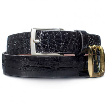 Dalys1895 Black Alligator Belt