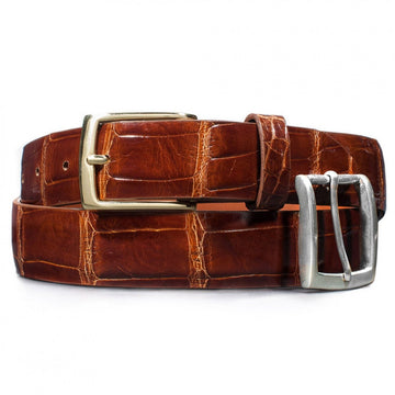 Dalys 1895 Cognac Alligator Belt
