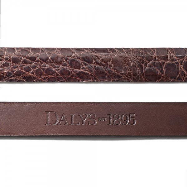 Dalys 1895 Brown Alligator Belt