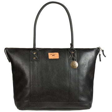 Will Leather Goods Signature Black Leather Tote - upscaleman.myshopify.com
