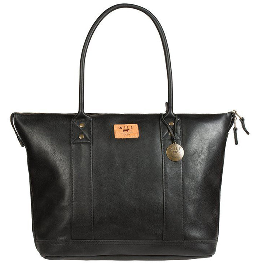 Will Leather Goods Signature Black Leather Tote