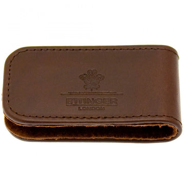 Ettinger Men's Magnetic Chestnut Brown Leather Money Clip