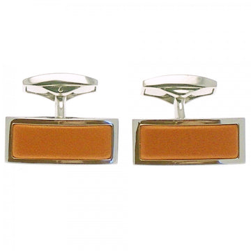 Ettinger Men's Cufflink Rectangle, Tan
