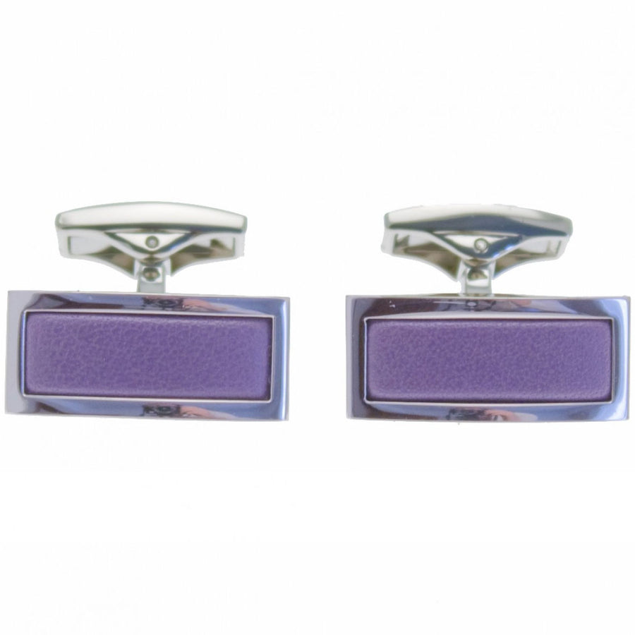 Ettinger Men's Cufflink Rectangle, Purple