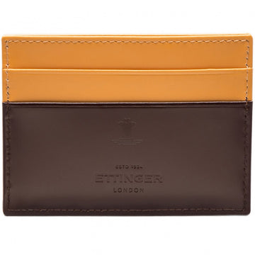 Ettinger Men's Flat Debit Card Case, Nut and Bridle Brown