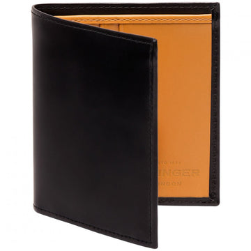 Ettinger Mini Men's Billfold Wallet, Black and Bridle Tan