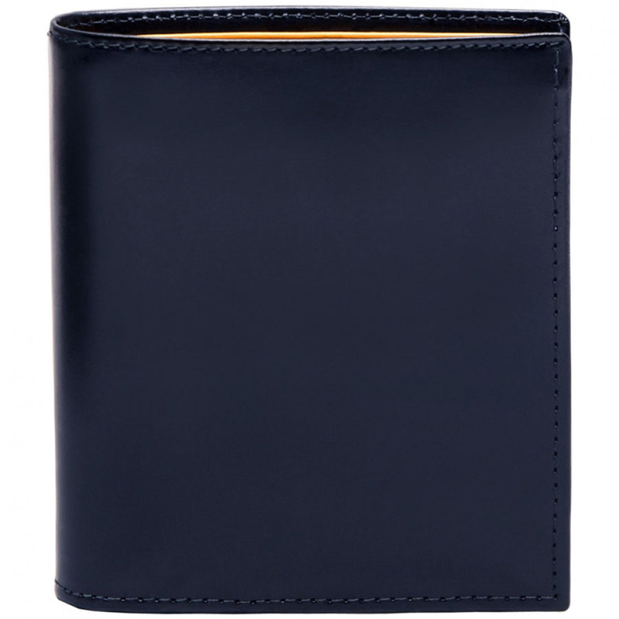 Ettinger Men's Flat Mini Designer Billfold, Navy and Bridle Tan
