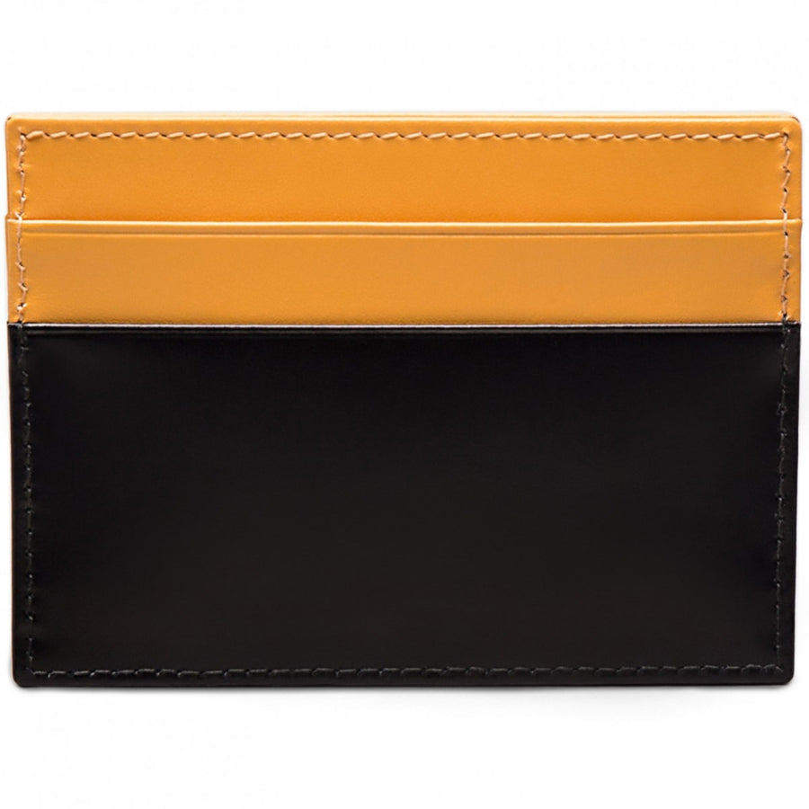 Ettinger Men's Bridle Hide Flat Credit Card Case Wallet, London Tan and Black