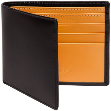 Ettinger Bridle Hide Black Leather Card Wallet with 6 Credit Card Slips - upscaleman.myshopify.com