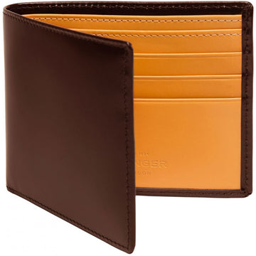 Ettinger Nut Brown Billfold Wallet with 6 Credit Card Slips
