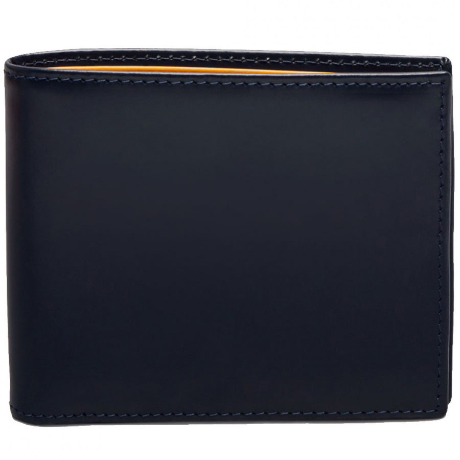 Ettinger Bridle Hide Billfold with 6 Credit Card Slips, Navy Blue