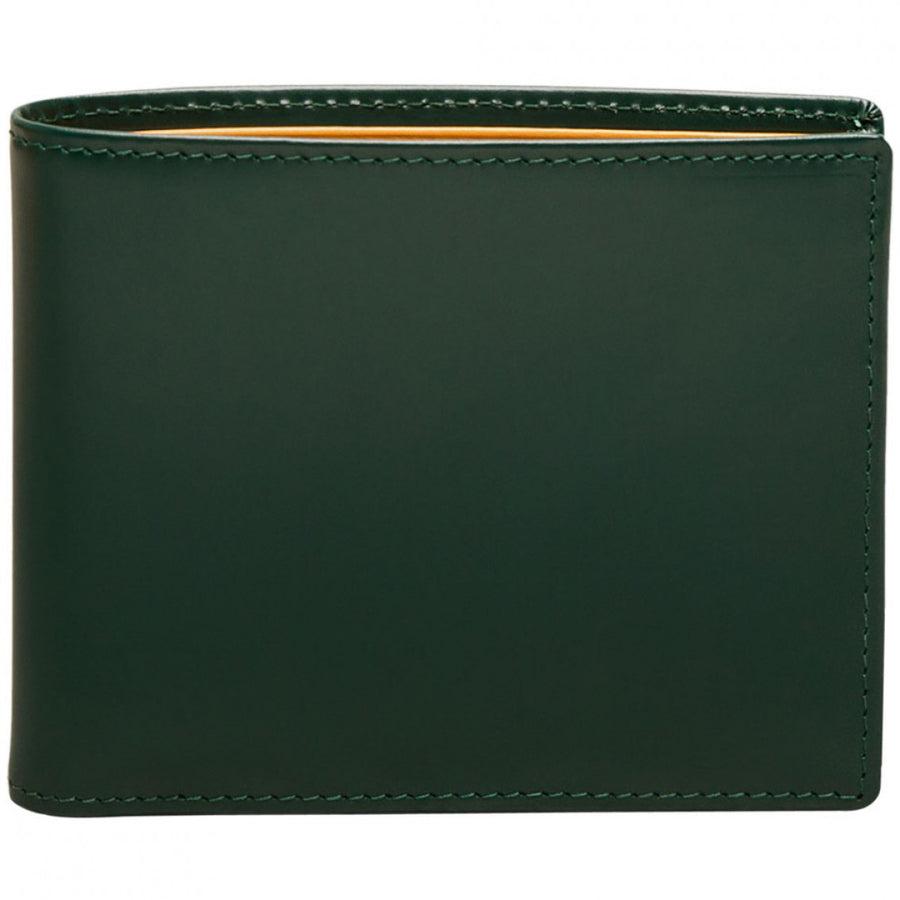 Ettinger Bridle Hide Green Leather Wallet, 6 Credit Card Slips