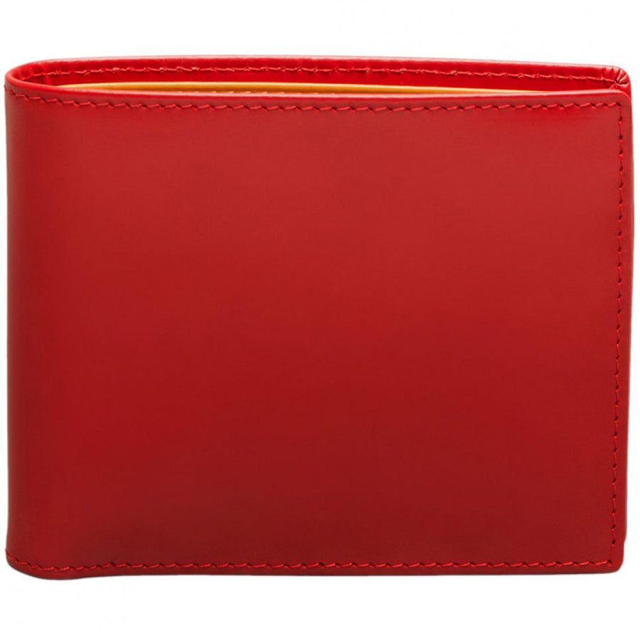 Ettinger Bridle Hide Billfold with 6 Credit Card Slips, Red
