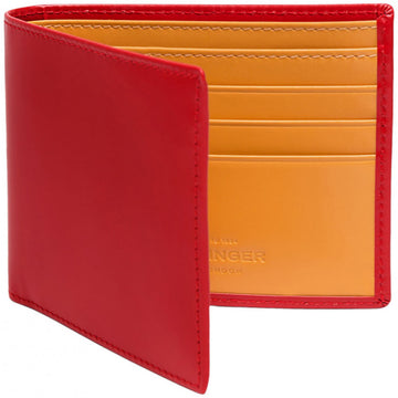 Ettinger Bridle Hide Billfold with 6 Credit Card Slips, Red - upscaleman.myshopify.com