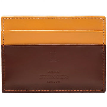 Ettinger Men's Bridle Hide Flat Credit Card Case in Havana Brown