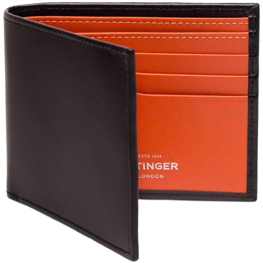 Ettinger Sterling Billfold with 6 Credit Card Slips, Orange