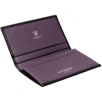 Ettinger Sterling Visiting Tri Fold Wallet, Purple