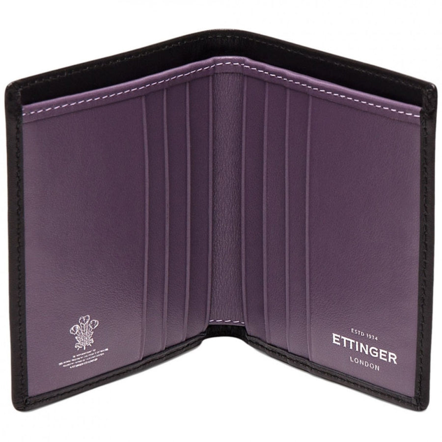 Ettinger Sterling Mini Wallet with 6 Credit Card Slips, Purple