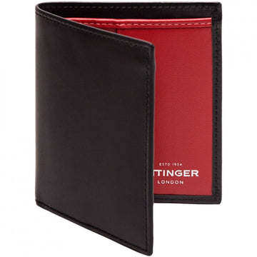 Ettinger Sterling Mini Vertical Bifold Wallet, 6 CC Slips, Red