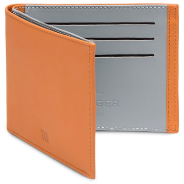 Ettinger TT Tan and Sky Blue Wallet with 6 Credit Card Slots - upscaleman.myshopify.com