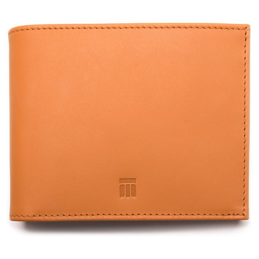 Ettinger TT Tan and Sky Blue Wallet with 6 Credit Card Slots