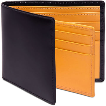 Ettinger Bridle Hide Collection Billfold Leather Wallet with 12 C/C, Navy - upscaleman.myshopify.com