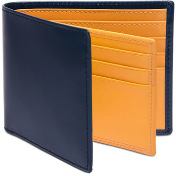 Ettinger Bridle Hide Collection Billfold Wallet with 12 C/C, Petrol Blue - upscaleman.myshopify.com
