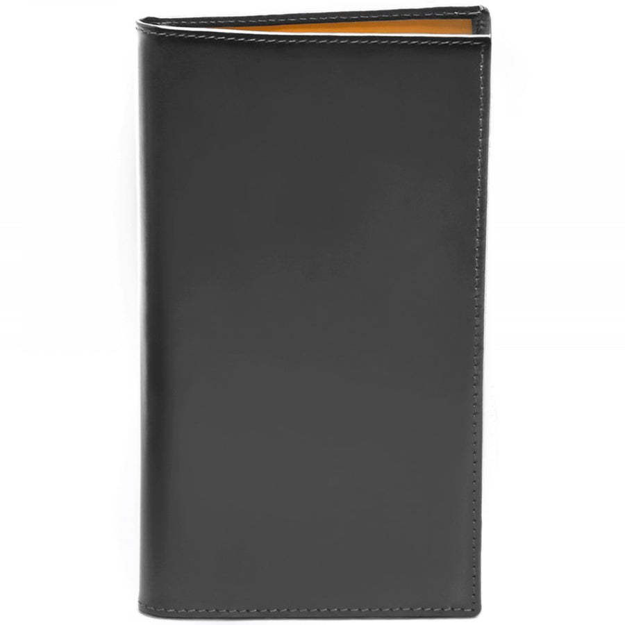 Ettinger Bridle Hide Collection Slim Coat Wallet with 8 Credit Card Slips, Grey and London Tan