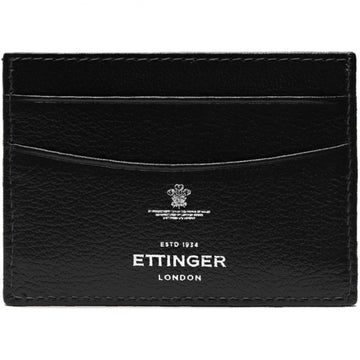 Ettinger Capra Flat Card Case, Black