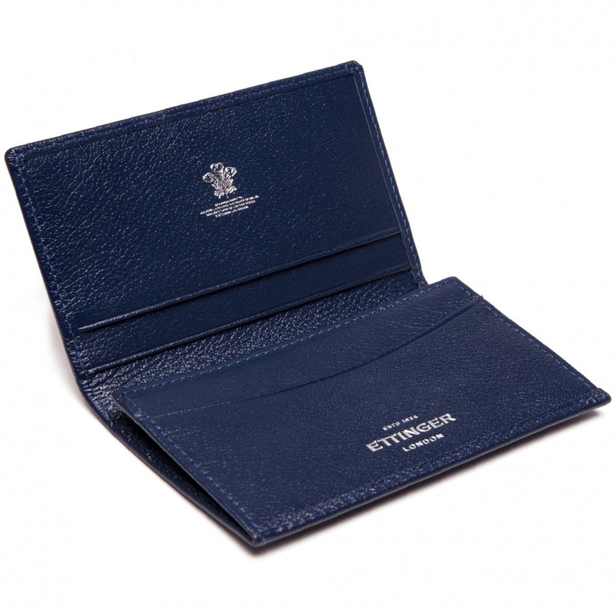 Ettinger Capra Visiting Card Case, Marine Blue