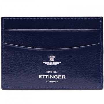 Ettinger Capra Flat Card Case, Marine Blue