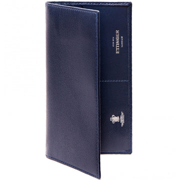 Ettinger Capra Long Wallet with Zippered Pocket, Marine Blue
