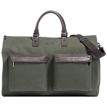Hook and Albert Fall 2017, GEN2 Twill and Leather Garment Weekender Bag, Olive