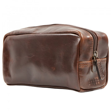 Moore and Giles Mini George Luxury Toiletries Kit, Brown