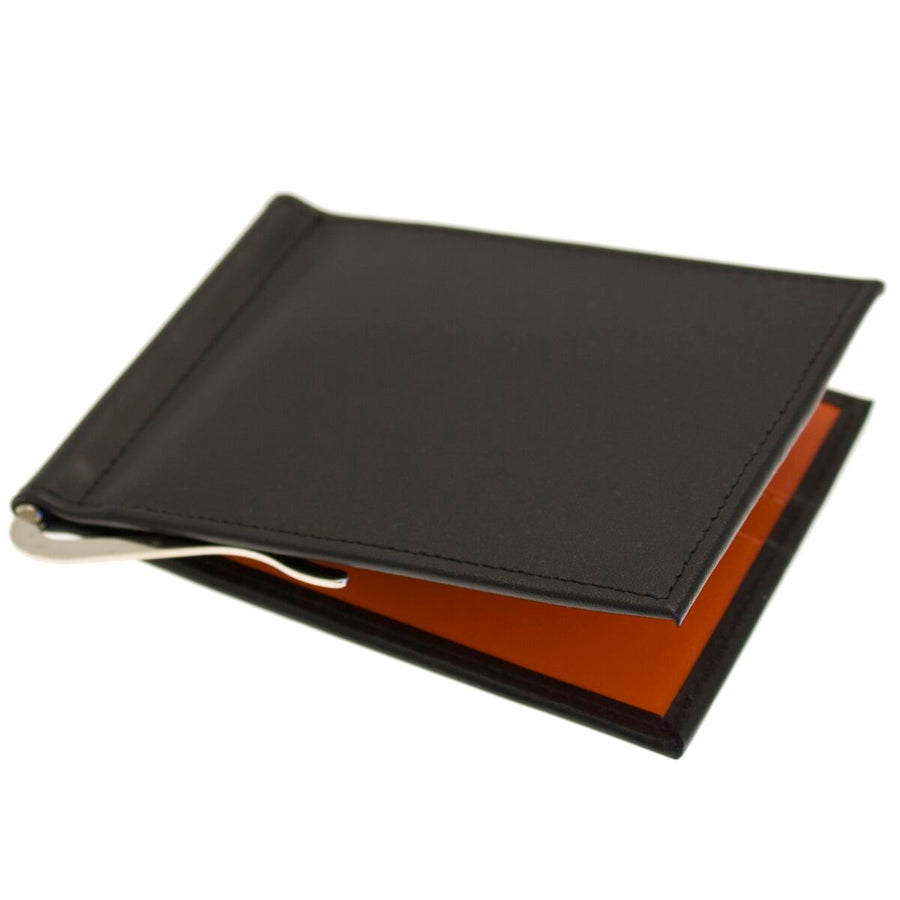 Ettinger Black and Orange Leather Wallet Sterling  Collection